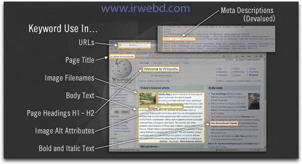 انتخاب کلمات کلیدی در سئو داخلی سایت